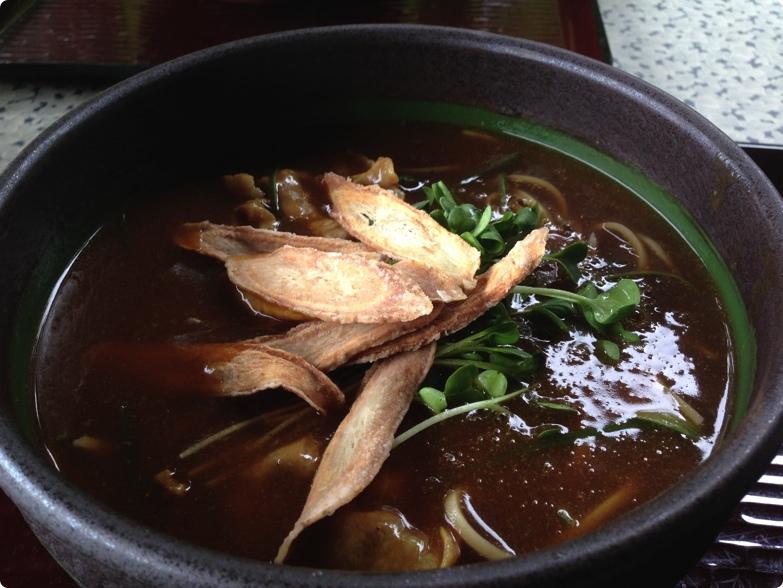 蕎麦処「右楽」の辛れー(カレー)南ばん蕎麦