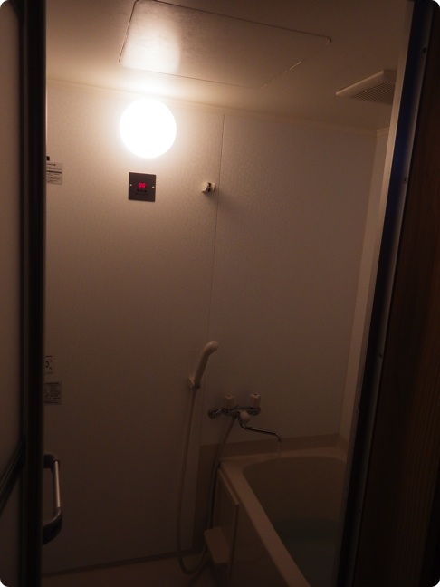 白山雷鳥荘のシャワー室