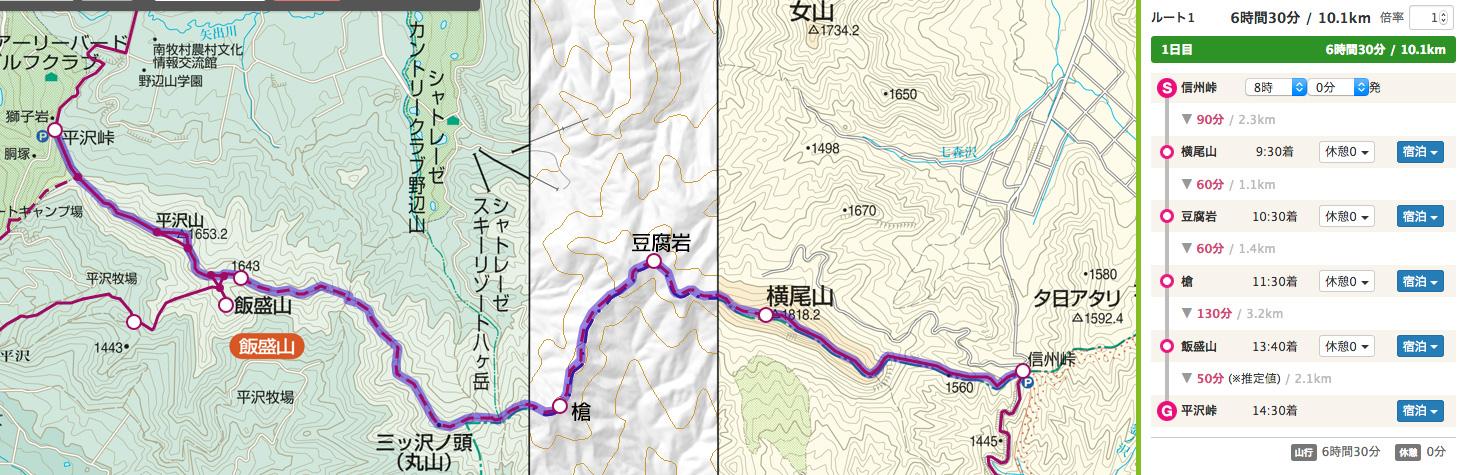 横尾山〜飯盛山縦走路