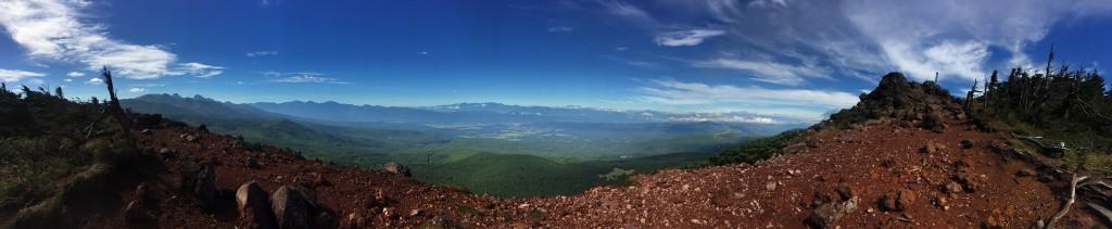 茶臼山展望台のパノラマ写真